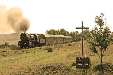 Retro buharlı tren