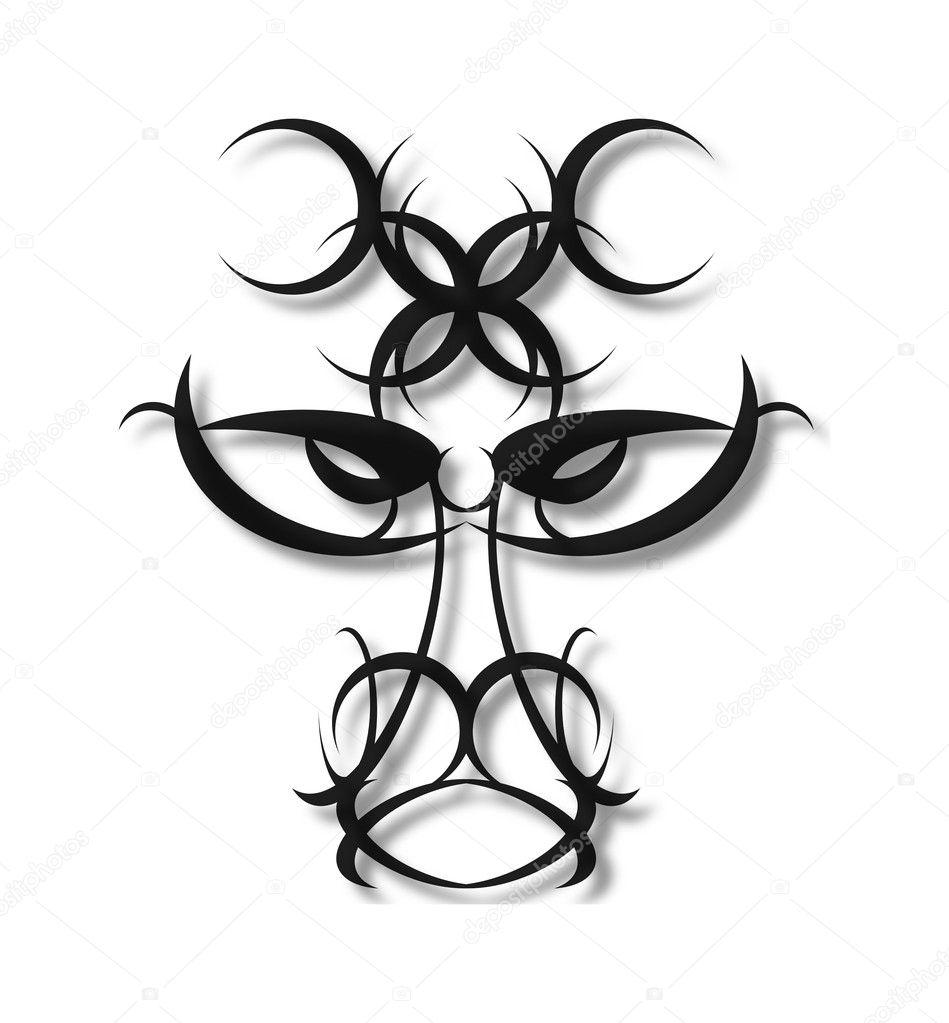 Tribal design head