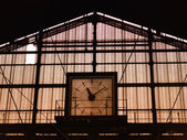 Fotografie Zug Bahnhof Uhr