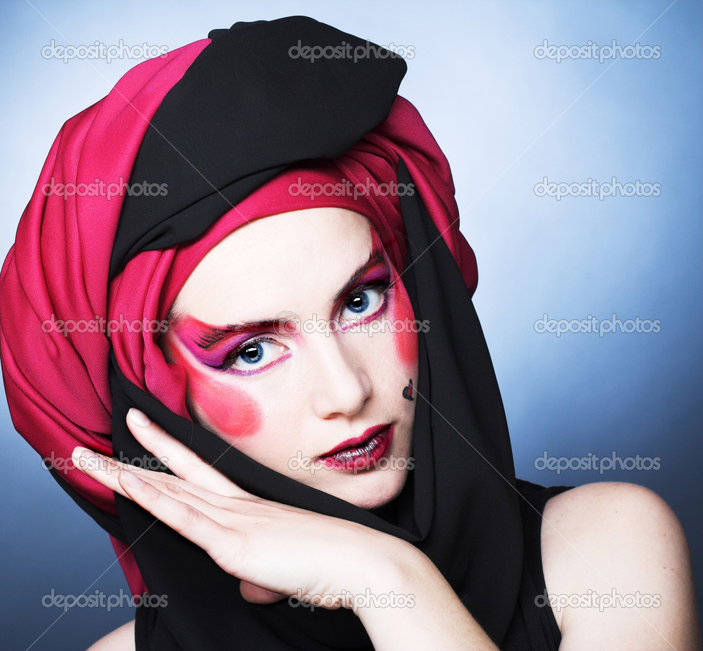 Young woman with creative make-up