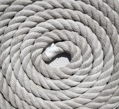 Heavy duty coiled rope