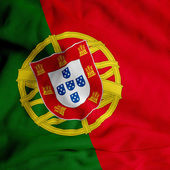 Fényképek szatén portugál zászló