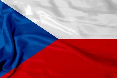 Satin Czech flag