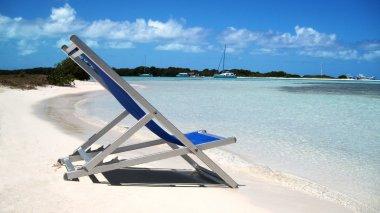 Chair in a Caribbean beach