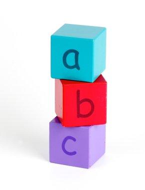 ABC in baby blocks