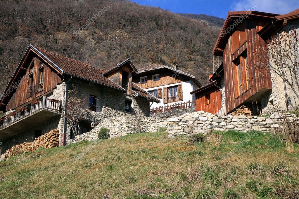 Typical architecture in French Alps