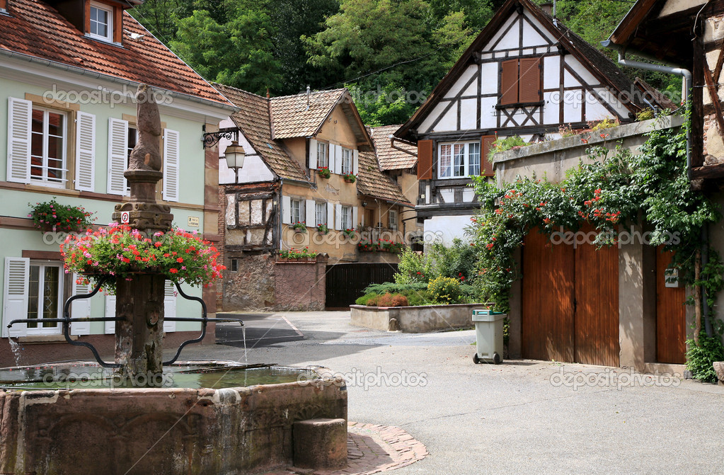 Village in Alsace, France