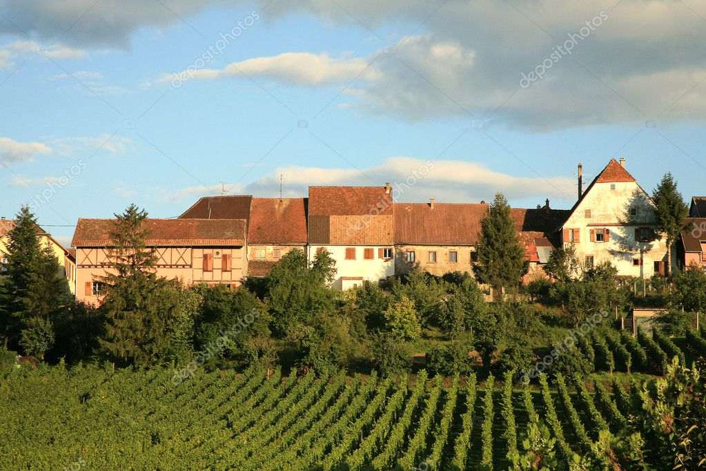 French village, France, Alsace, Champagn