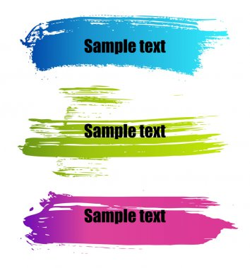 Color paint grunge banners