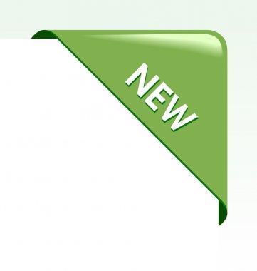 New green corner business ribbon