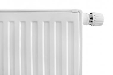Radiator with thermostat set