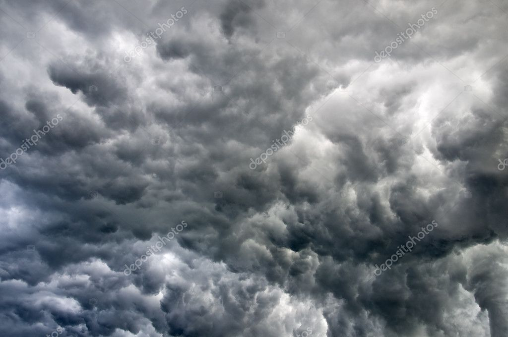 Black stormy clouds