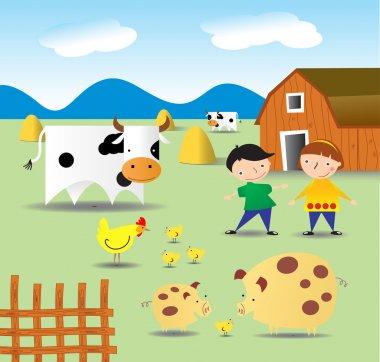 Summer on a farm