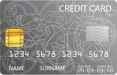 Gray credit card
