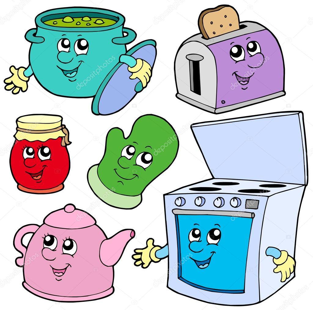Dibujos animados de la cocina vector de stock clairev for Dibujos sobre cocina