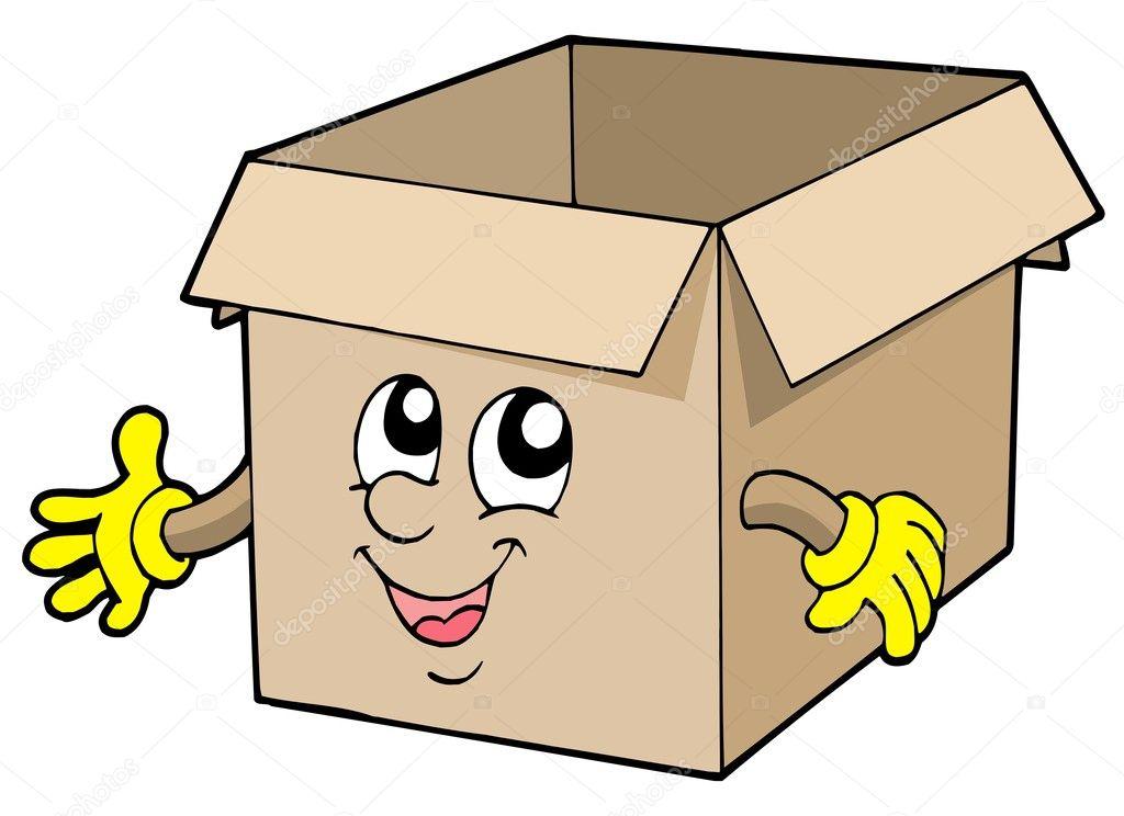 Open Cute Cardboard Box  U2014 Stock Vector  U00a9 Clairev  2259426
