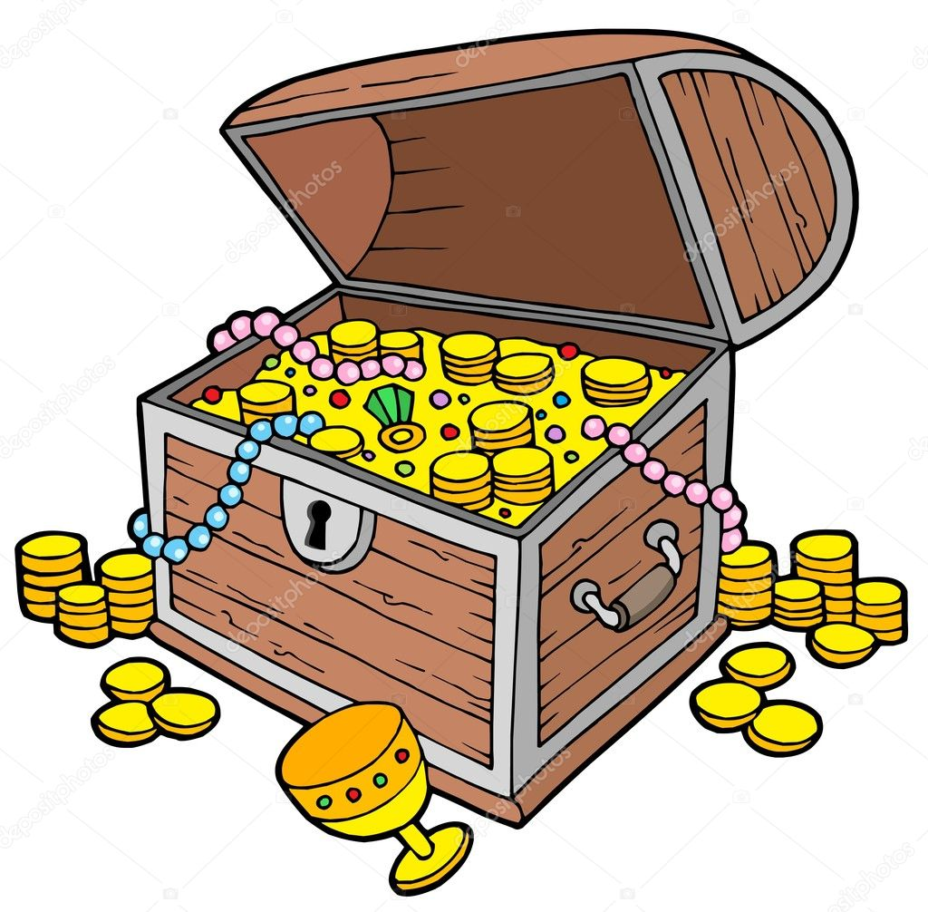 open treasure chest stock vector clairev 2259433 rh depositphotos com treasure chest vector download treasure chest vector art