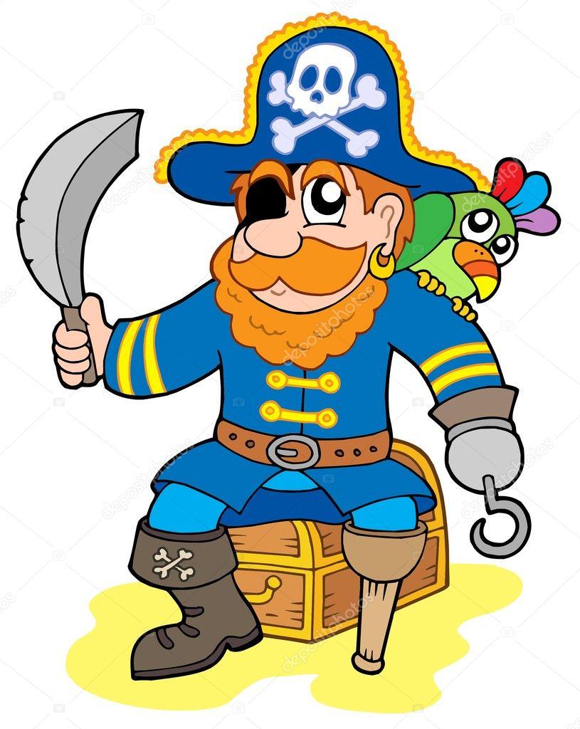 piraten sitzen auf schatztruhe stockvektor 2259863 treasure chest clip art border treasure chest clip art border