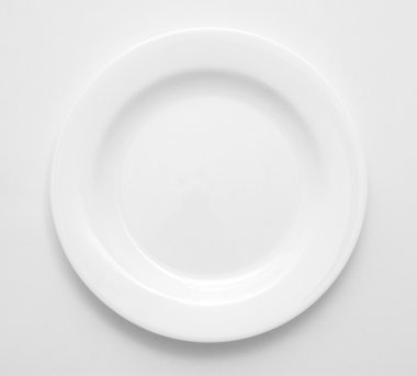 White plate isolated on white. stock vector