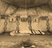 Interior Of The Indian Tent