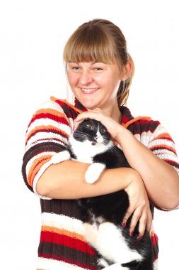 Girl with the cat