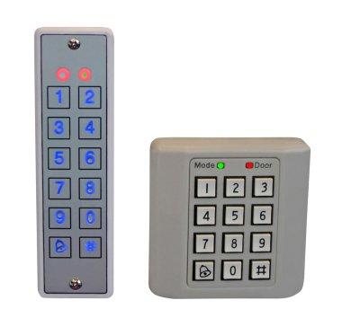 Pass control panel, plastic box isolated