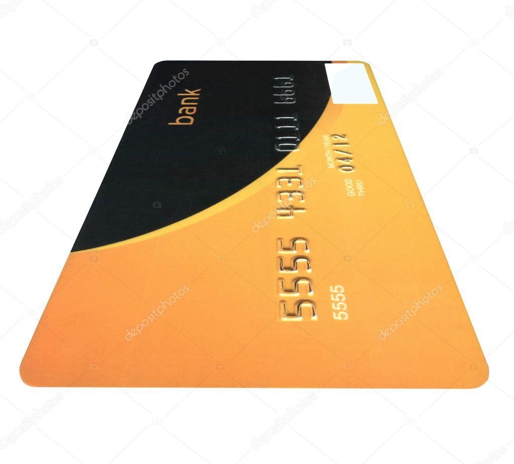 Jedna Bankovni Karty Samostatny Uspory Bohatstvi Stock