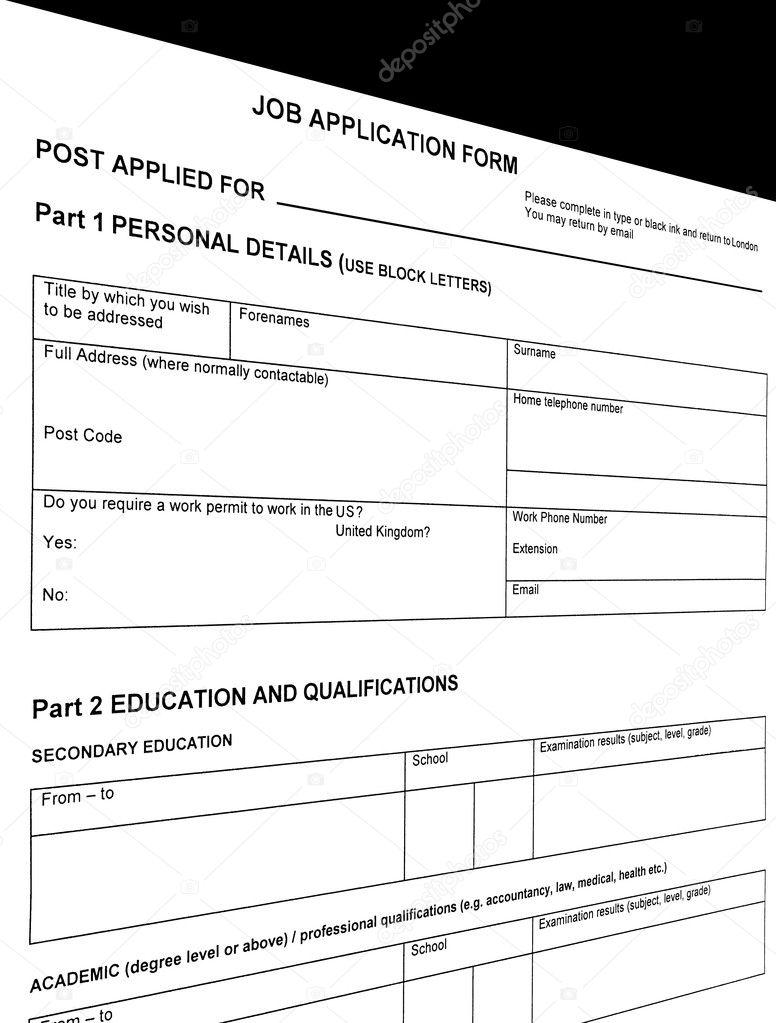 buscando trabajo, reanudar el formulario en blanco — Fotos de Stock ...