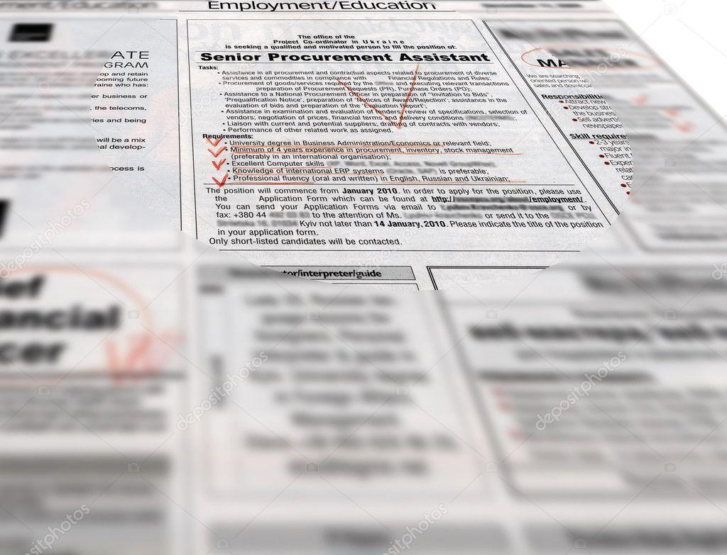 titulares de prensa: publicidad, trabajos — Foto de stock © fmua09 ...