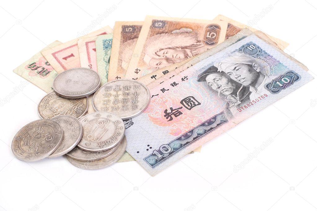 Alte Chinesische Münzen Und Banknoten Stockfoto Shcheglov 1961518