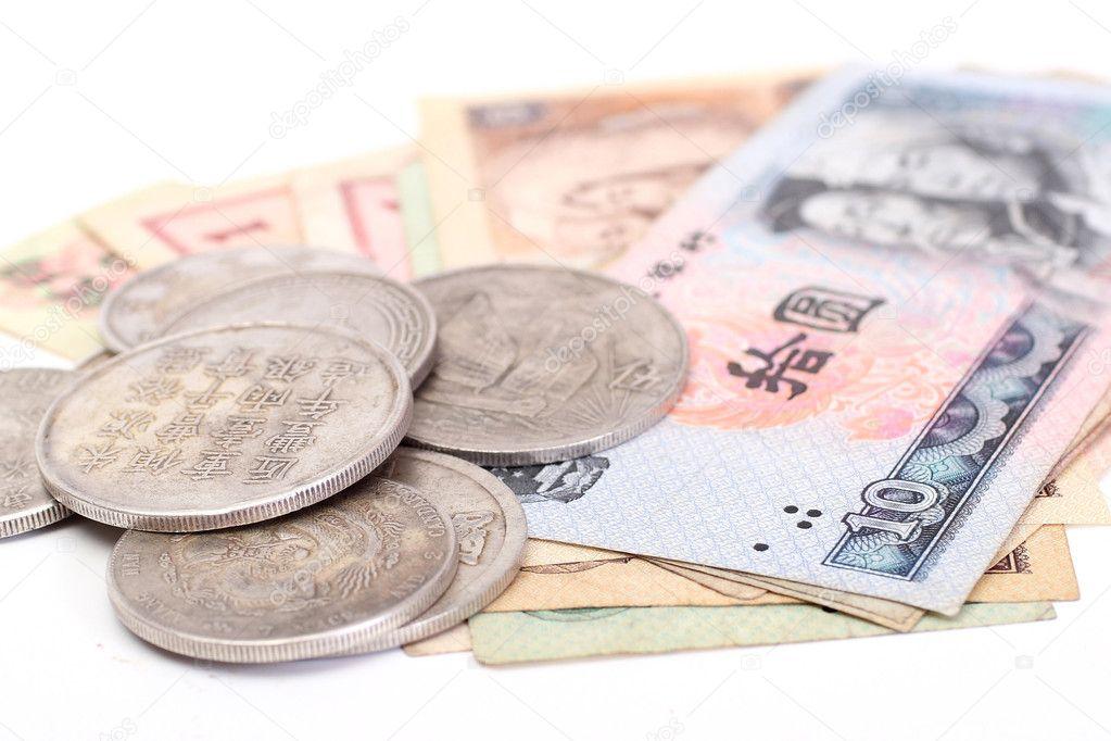 Alte Chinesische Münzen Und Banknoten Stockfoto Shcheglov 1961547