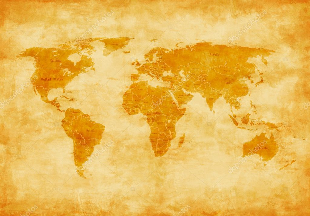 Old World Map U2014 Stock Photo