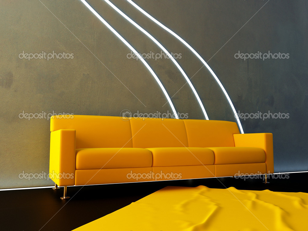 int rieur canap jaune et vague de n on photographie jordygraph 2052759. Black Bedroom Furniture Sets. Home Design Ideas