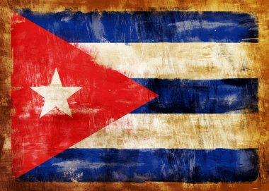 CUBA old painted flag