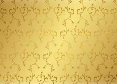 Damask background gold