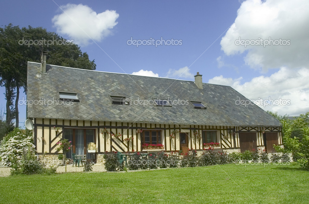 Typical French House Stock Photo