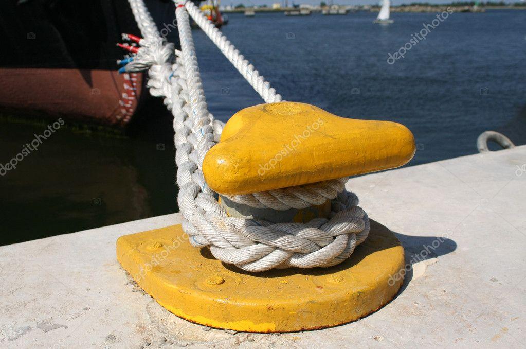 Mooring hook and ship rope