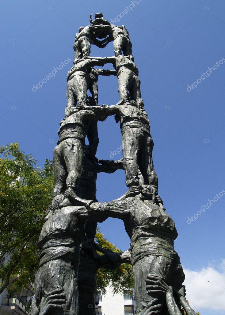Human Pyramid Castells Sculpture Stock Photo Image By Nekitt 2088139