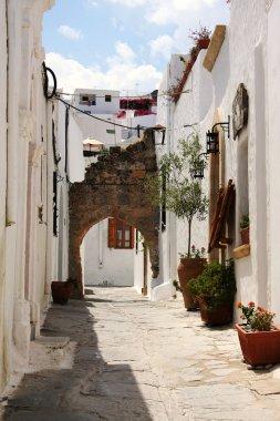 Street in Lindos, Rhodes island