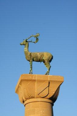 Statue of deer - symbol of Rhodes
