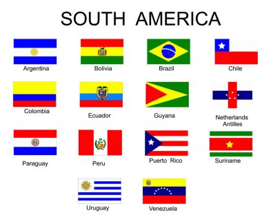 List of all flags of South America coun