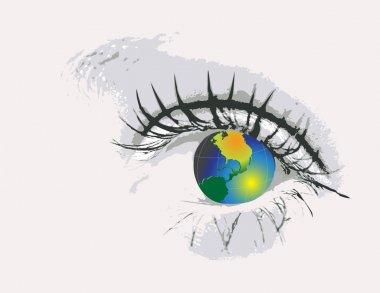 Eye with globe