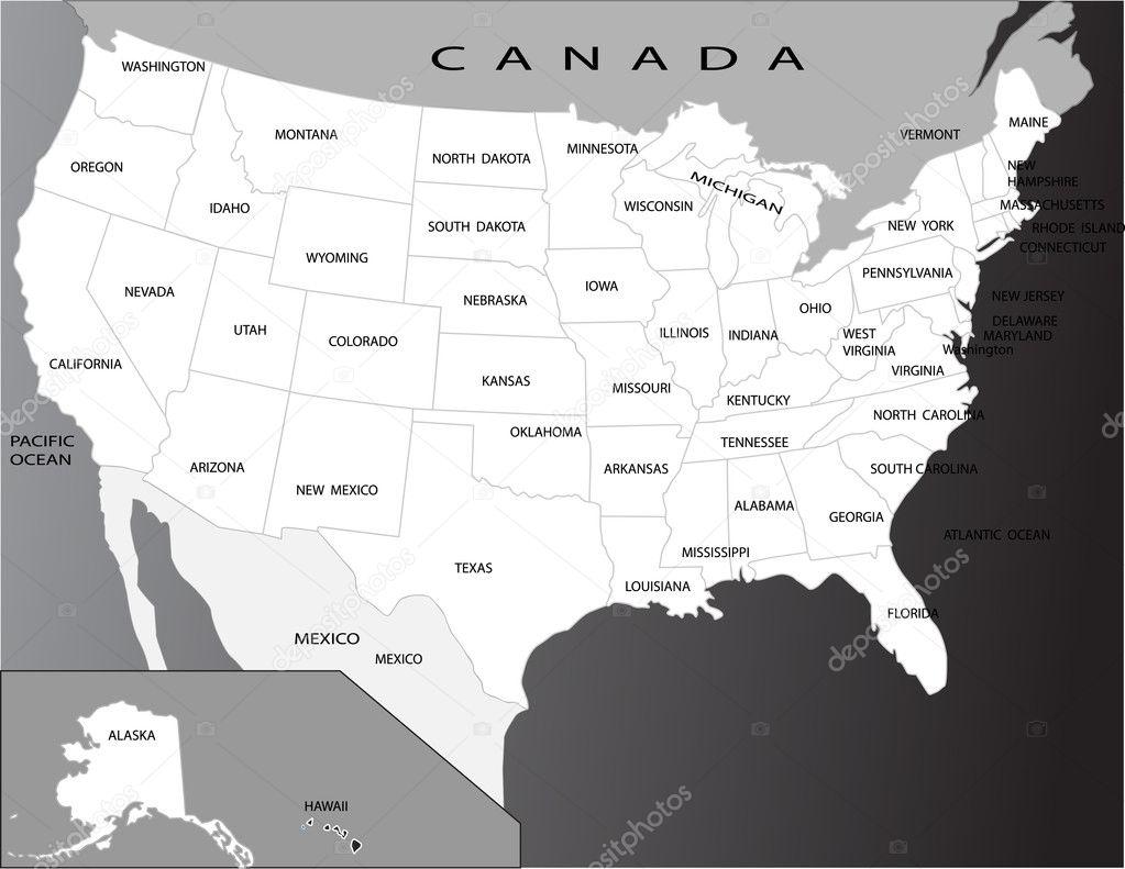 Political Map Of Florida.Political Map Of Usa Stock Vector C Jelen80 1948779
