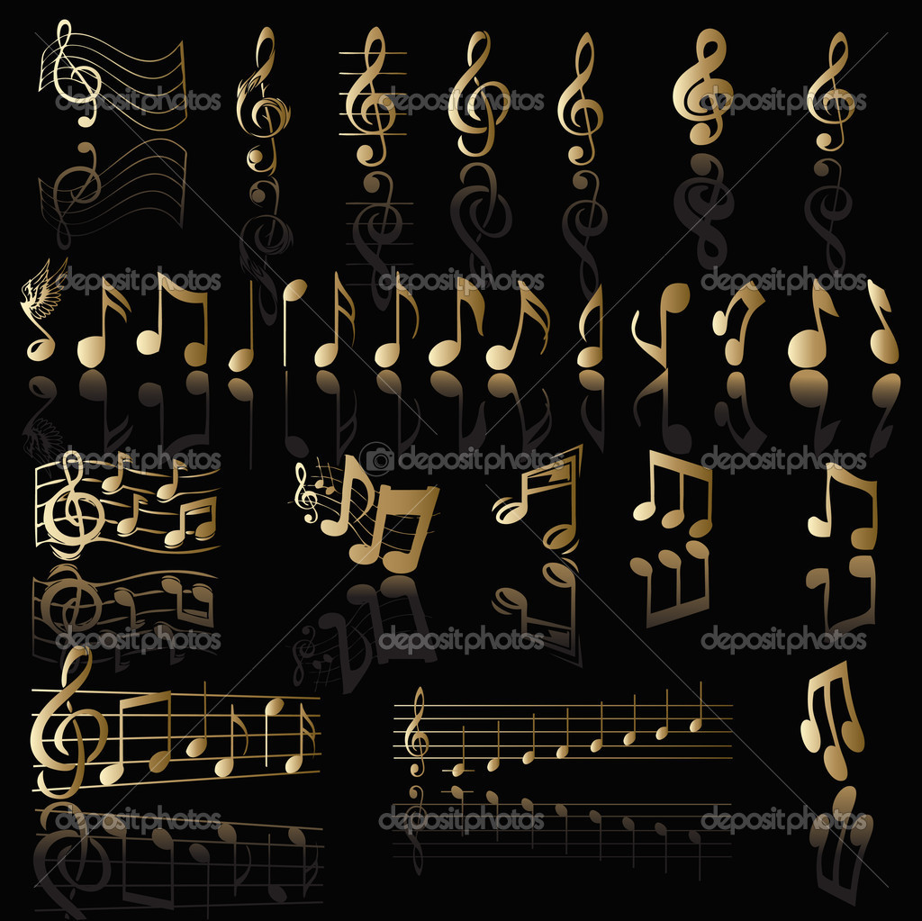 Background with music notes