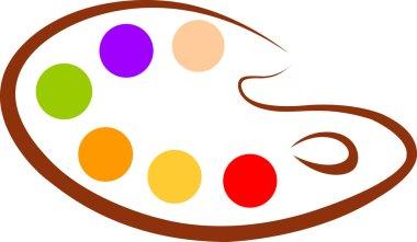 Color palette stock vector