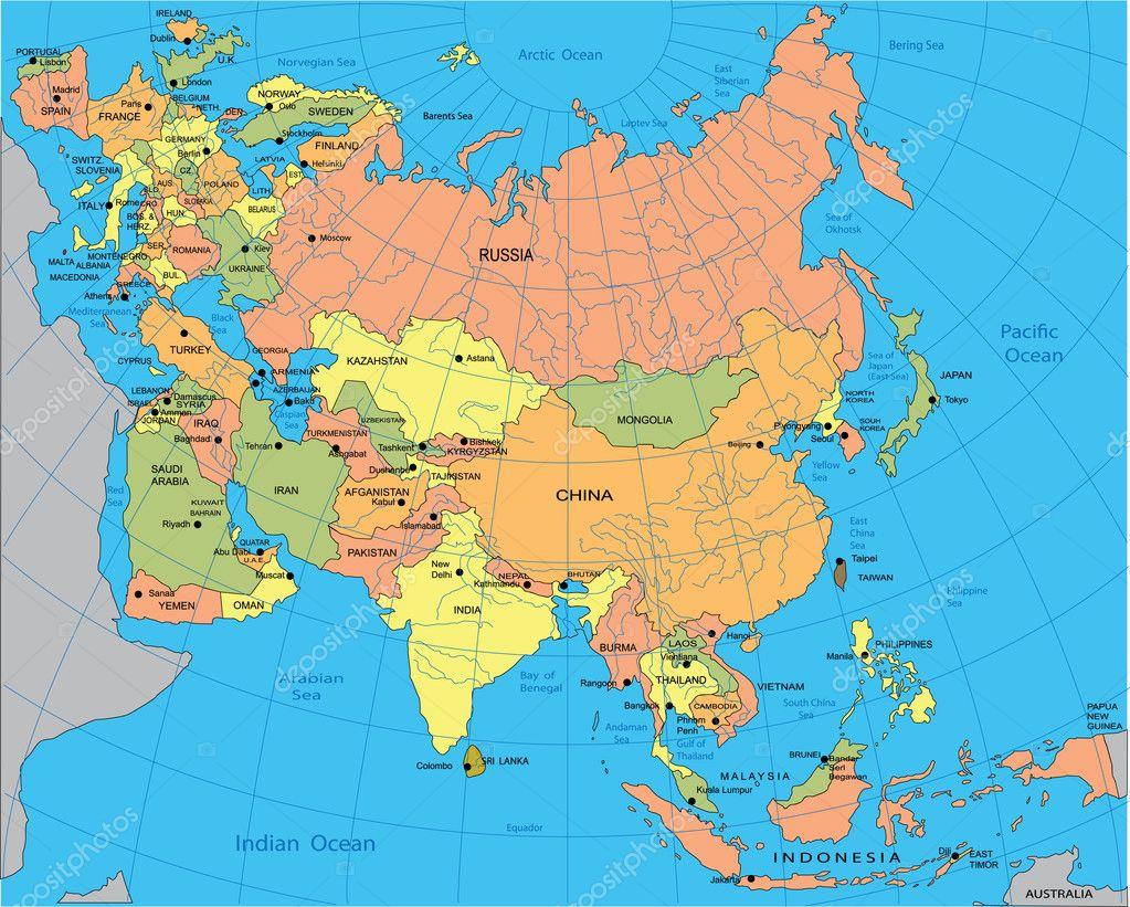 Карта Евразии Скачать - фото 5