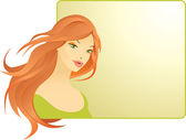 Fotografie krásná žena s rámečkem
