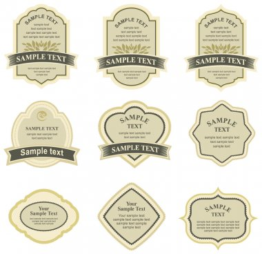 Set of vector labels