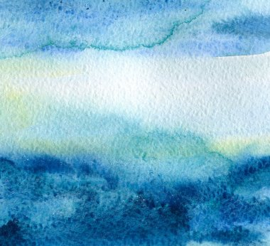Abstract watercolor hand painted backgro