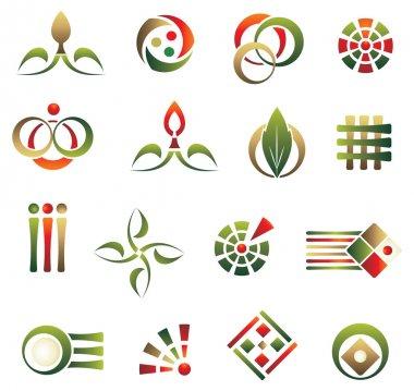 Set of logo design elements